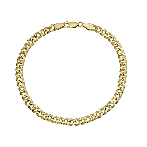 "Together Silver & 9ct Bonded Gold Curb 8"" Bracelet - Product number 9684212"