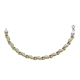 "Together Silver & 9ct Bonded Gold Wave 7.25"" Bracelet - Product number 9687017"