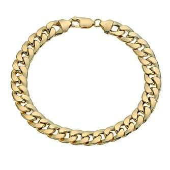 "Together Silver & 9ct Bonded Gold 8.2"" Curb Bracelet - Product number 9687203"