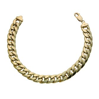 Together Silver & 9ct Bonded Gold 8.5 Inch Curb Bracelet - Product number 9687211