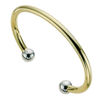 Together Bonded Silver & 9ct Gold Torque Bangle - Product number 9687297