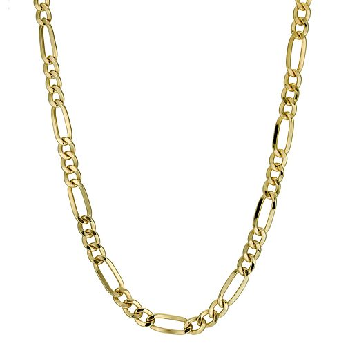 "Together Bonded Silver & 9ct Gold Fiagro Chain 18"" - Product number 9687580"
