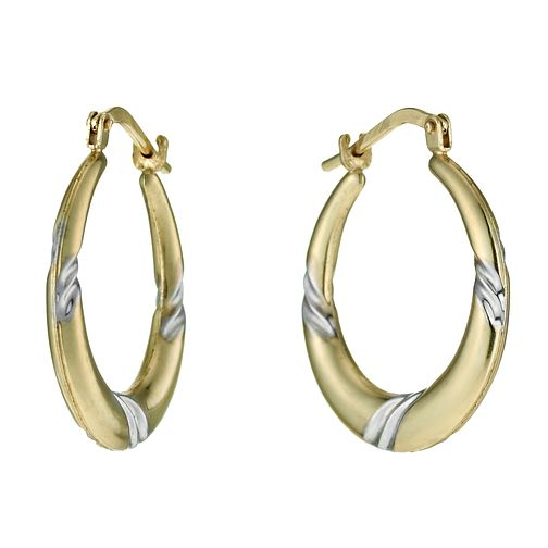 f6ae41cd5 Together Silver & 9ct Bonded Gold Swirl Creole Earrings - Product number  9689214