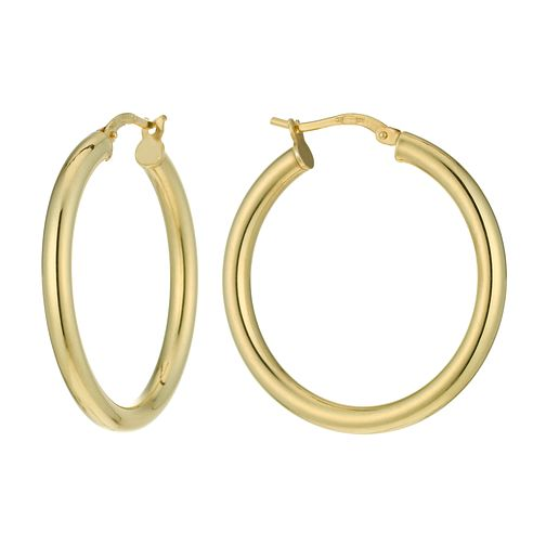 Together Bonded Silver & 9ct Gold Creole Earrings - Product number 9689435