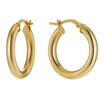 Together Silver & 9ct Bonded Gold Creole Earrings - Product number 9689486