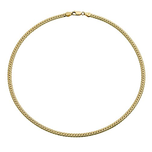 "Together Bonded Silver & 9ct Gold 17"" Curb Collar - Product number 9689516"
