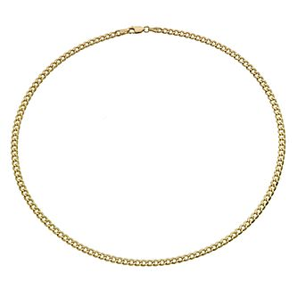Together Silver & 9ct Bonded Gold 18 inches Curb Chain - Product number 9690131