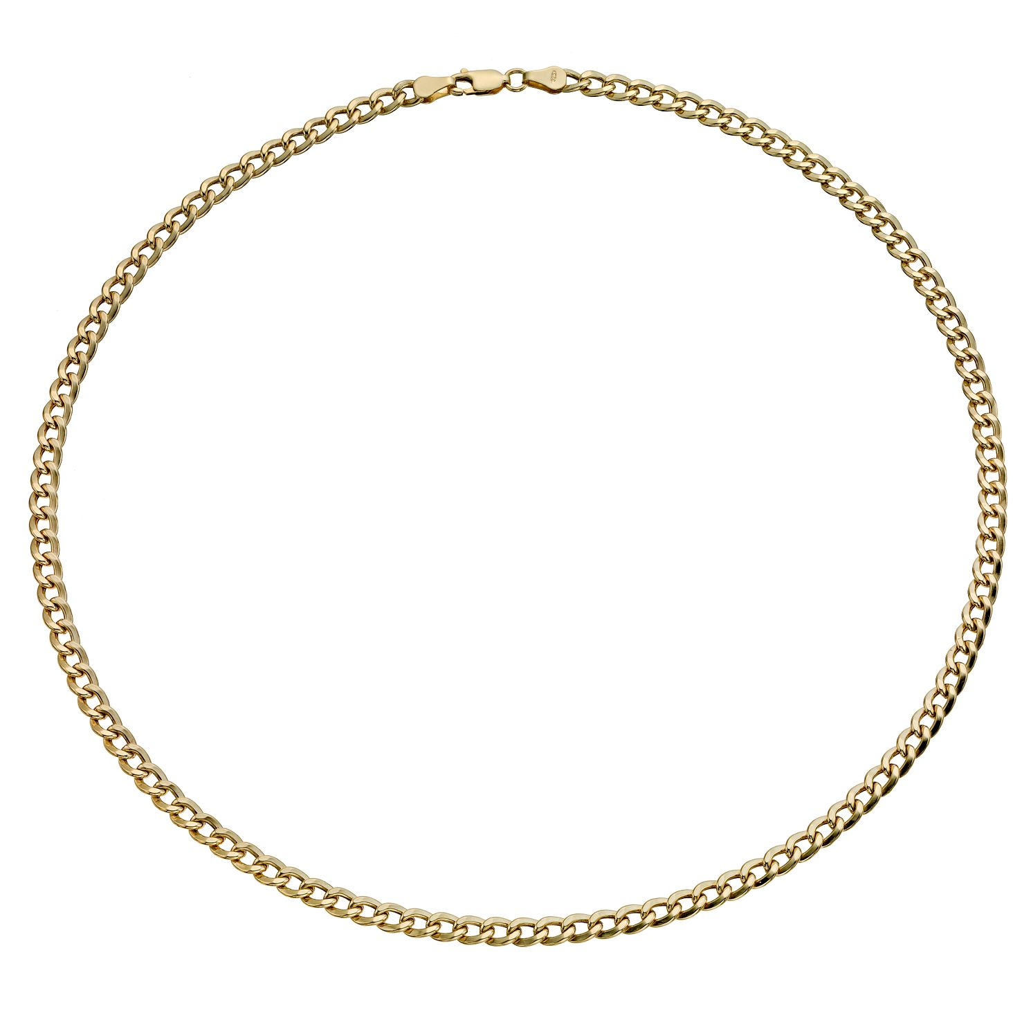 Together Silver & 9ct Bonded Gold 18 Inch Curb Chain - Product number 9690158