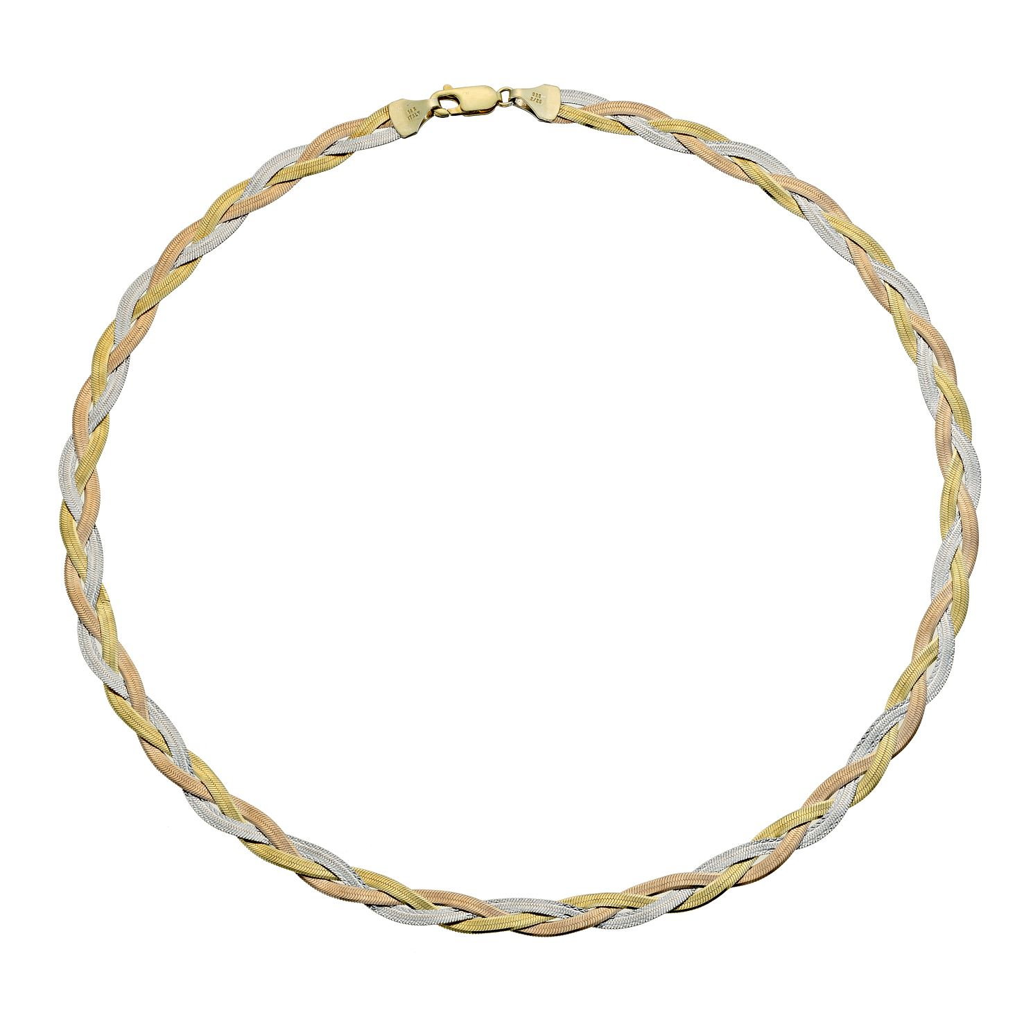 Together Silver & Bonded Gold Herringbone 17 inches Necklace - Product number 9690298
