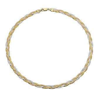 "Together Silver & 9ct Bonded Gold Herringbone 17"" Necklace - Product number 9690298"