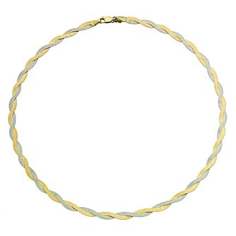 Together Silver & 9ct Bonded Gold Herringbone Necklace - Product number 9690328