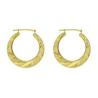 Together Silver & 9ct Bonded Gold Creole Earrings - Product number 9690751