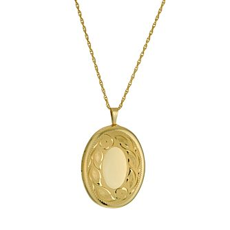 Together Silver & 9ct Bonded Yellow Gold Oval Locket - Product number 9691057
