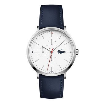Lacoste Moon Men's Blue Leather Strap Watch - Product number 9691456
