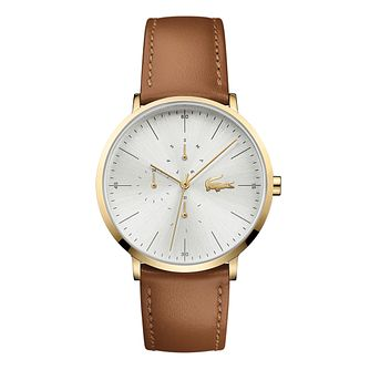 Lacoste Moon Men's Brown Leather Strap Watch - Product number 9691480