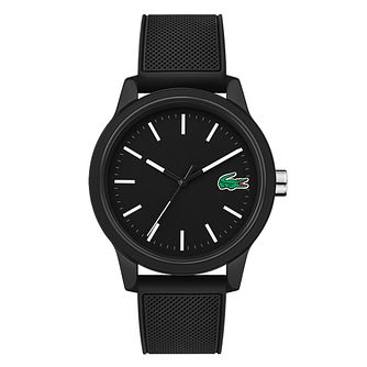 Lacoste Men's Black Dial Black Silicone Strap Watch - Product number 9691529