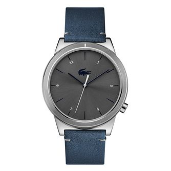 Lacoste Motion Men's Blue Leather Strap Watch - Product number 9691588