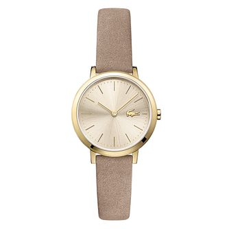Lacoste Moon Ladies' Brown Leather Strap Watch - Product number 9691677