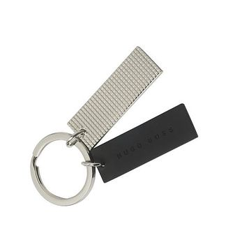 BOSS Black And Chrome Grid Keyring - Product number 9692746