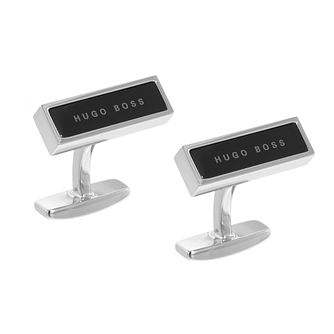 BOSS Red Men's Brass Black Cufflinks - Product number 9693777
