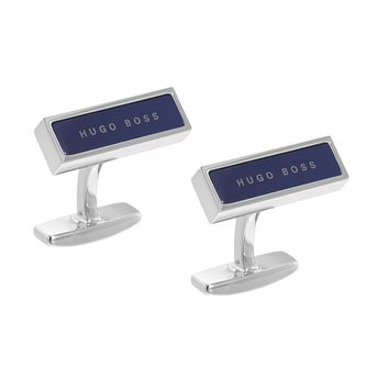 BOSS Red Men's Brass Navy Cufflinks - Product number 9693785