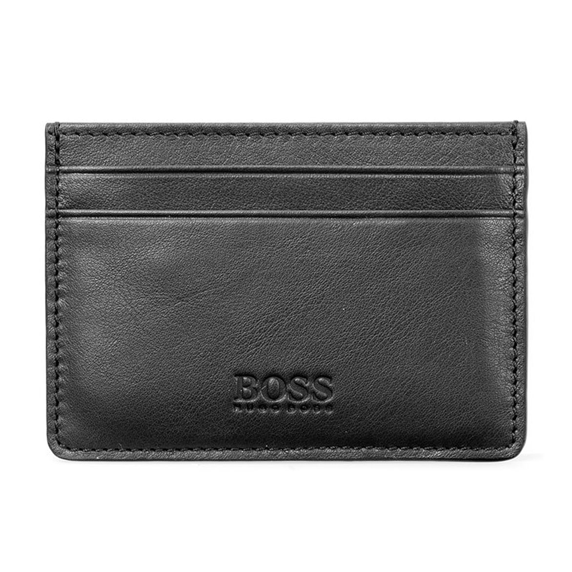 BOSS Majestic Men's Black Leather Cardholder - Product number 9694269