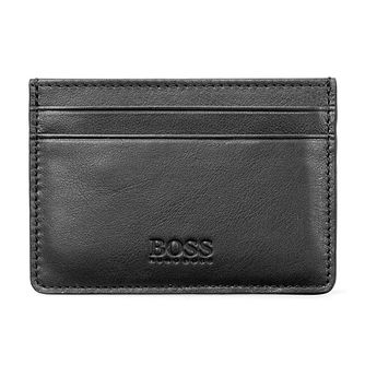 Hugo Boss Majestic Men's Black Leather Cardholder - Product number 9694269