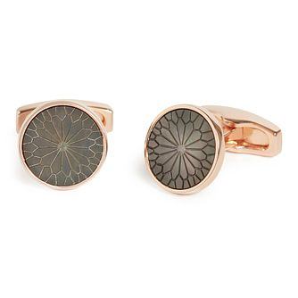 Simon Carter Rose Gold Tone Engraved Cufflinks - Product number 9694323