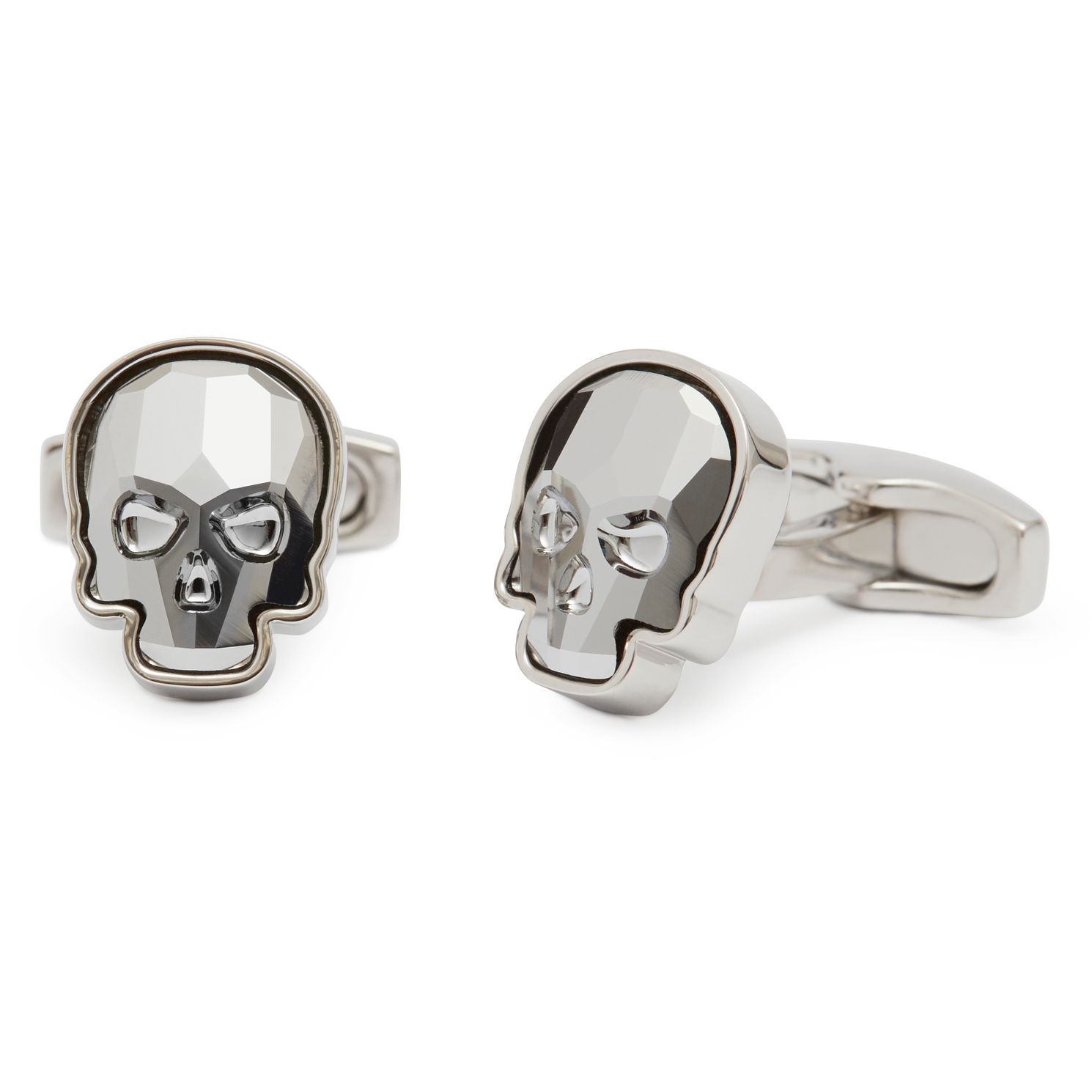 Simon Carter Men's Swarovski Crystal Skull Clear Cufflinks - Product number 9694463