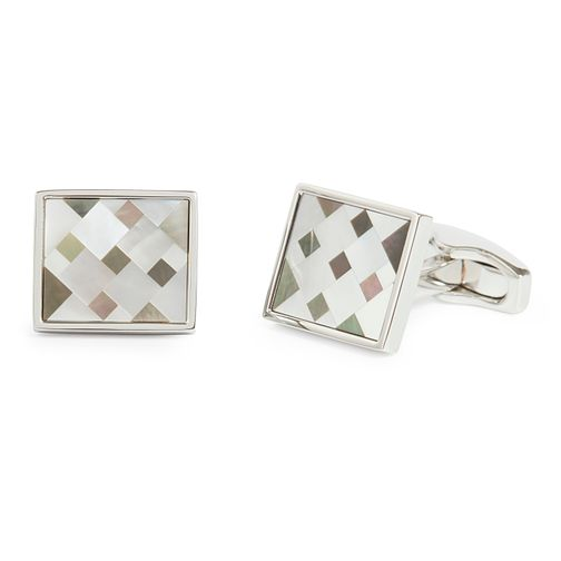 Simon Carter Men's Mother of Pearl Mosaic Cufflinks - Product number 9694471