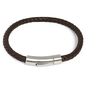Simon Carter Woven Brown Leather Bracelet - Product number 9694498 69e3d17644
