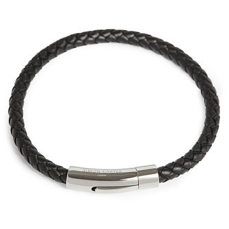 Simon Carter Woven Black Leather Bracelet - Product number 9694501