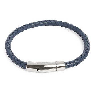 Simon Carter Woven Navy Leather Bracelet - Product number 9694528