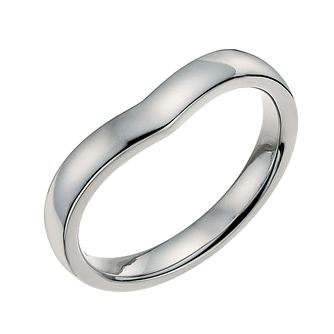 9ct white gold plain shaped 3mm ring - Product number 9700897