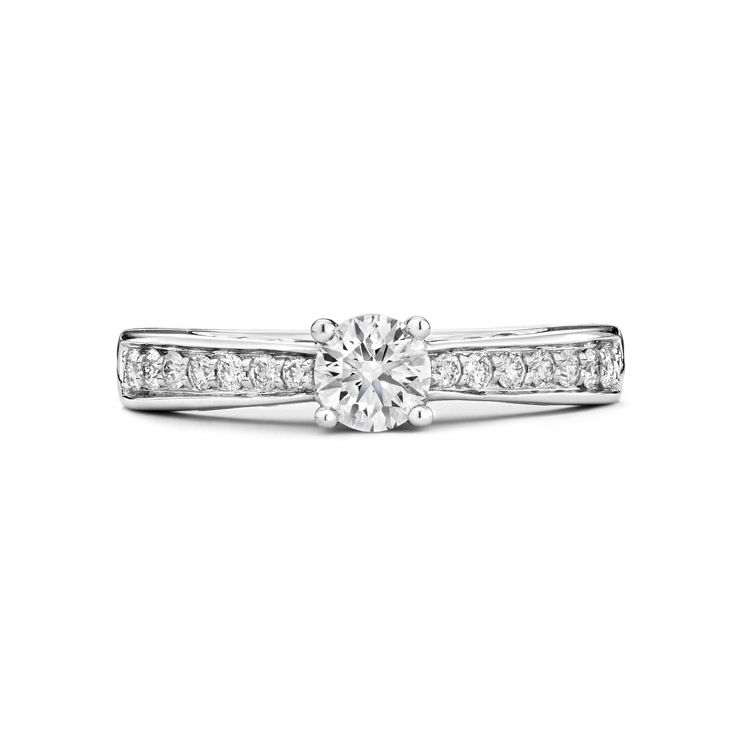 Tolkowsky 18ct White Gold 1/2ct I-I1 Diamond Ring - Product number 9708286