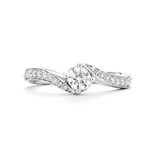 Tolkowsky 18ct white gold 1/2ct I-I1 diamond twist ring - Product number 9708405