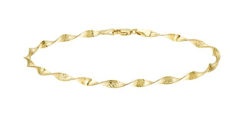 9ct Yellow Gold Twist Bracelet - Product number 9723617