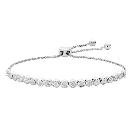 Silver Diamond Adjustable Bracelet - Product number 9728694