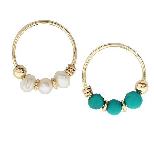 Bodifine 9ct Yellow Gold Nose Hoops Set - Product number 9729569