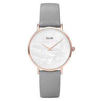 Cluse Minuit La Pearle Rose Gold White Pearl Watch - Product number 9733906