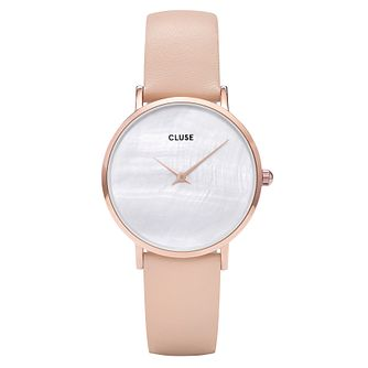 Cluse Ladies' Minuit La Perle Rose Gold Case with Nude Strap - Product number 9733914