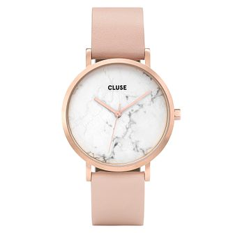 Cluse Ladies' La Roche Rose Gold Case Marble Dial Watch - Product number 9733930