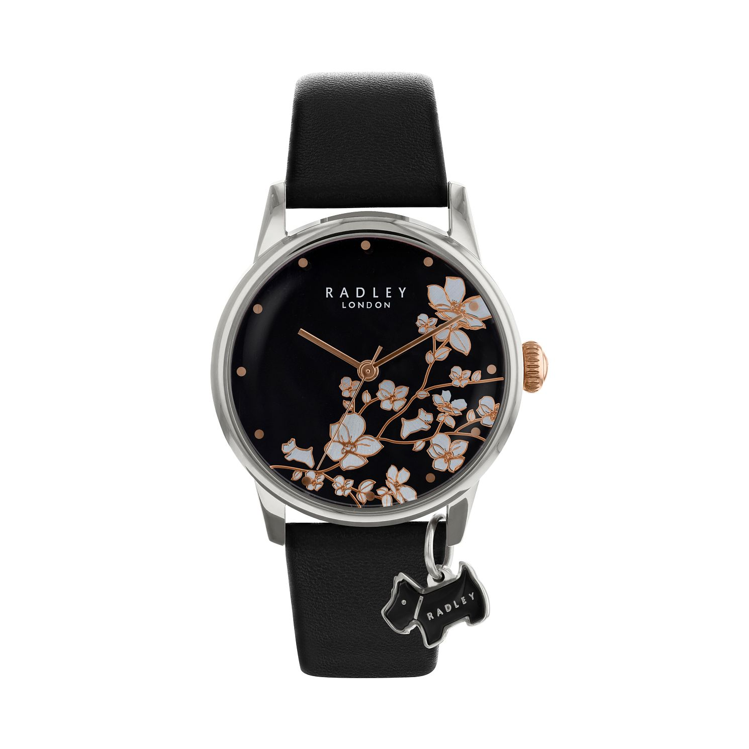 Radley Ladies' Black Dial Black Leather Strap Watch - Product number 9734082