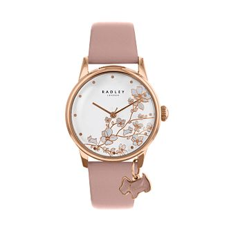 Radley Ladies' Pink Dial Pink Leather Strap Watch - Product number 9734112