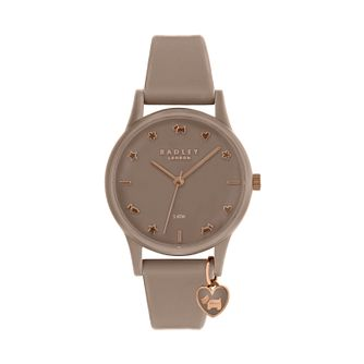 Radley Ladies' Taupe Dial Taupe Silicone Strap Watch - Product number 9734139