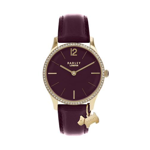 Radley Ladies' Purple Dial Purple Leather Strap Watch - Product number 9734163
