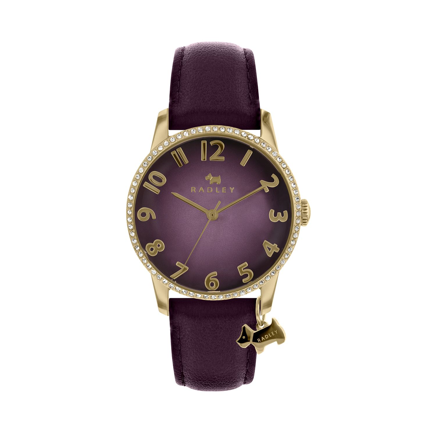 Radley Ladies' Purple Dial Leather Strap Watch - Product number 9734198