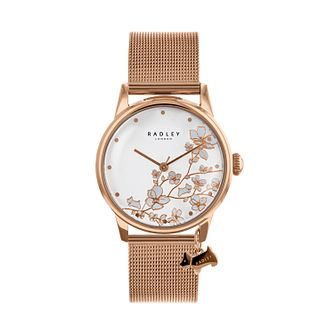 Radley Ladies' Rose Gold Tone Floral Dial Watch - Product number 9734201