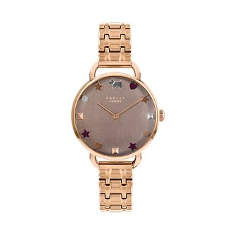 Radley Ladies Rose Gold Tone Brown Dial Watch - Product number 9734228
