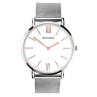 Sekonda Ladies' Rose Accents Steel Mesh Bracelet Watch - Product number 9734333